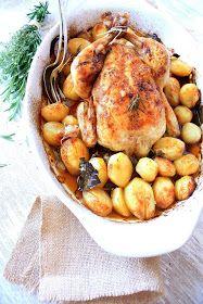Pratos e Travessas: Frango no forno em marinada aromática