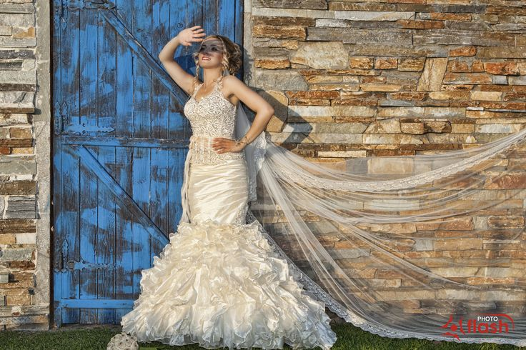 Wedding, Νύφη,Bride, studio photo flash