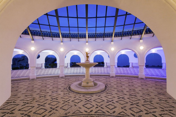 A 1920s spa called Tsillonero designed by Italian architect called Pietro Lombardi on Rhodes, Greece. Now done up and owned by Best Western. It was fab