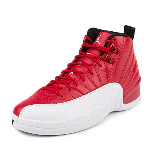 Nike Mens Air Jordan 12 Retro Gym Red Gym RedWhiteBlack Leather -- Want to know more, click on the image.
