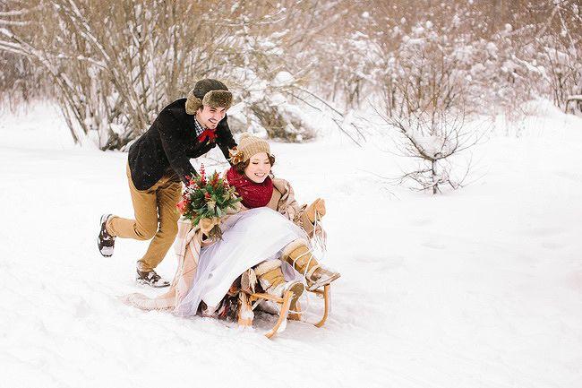 свадьба зимой платье