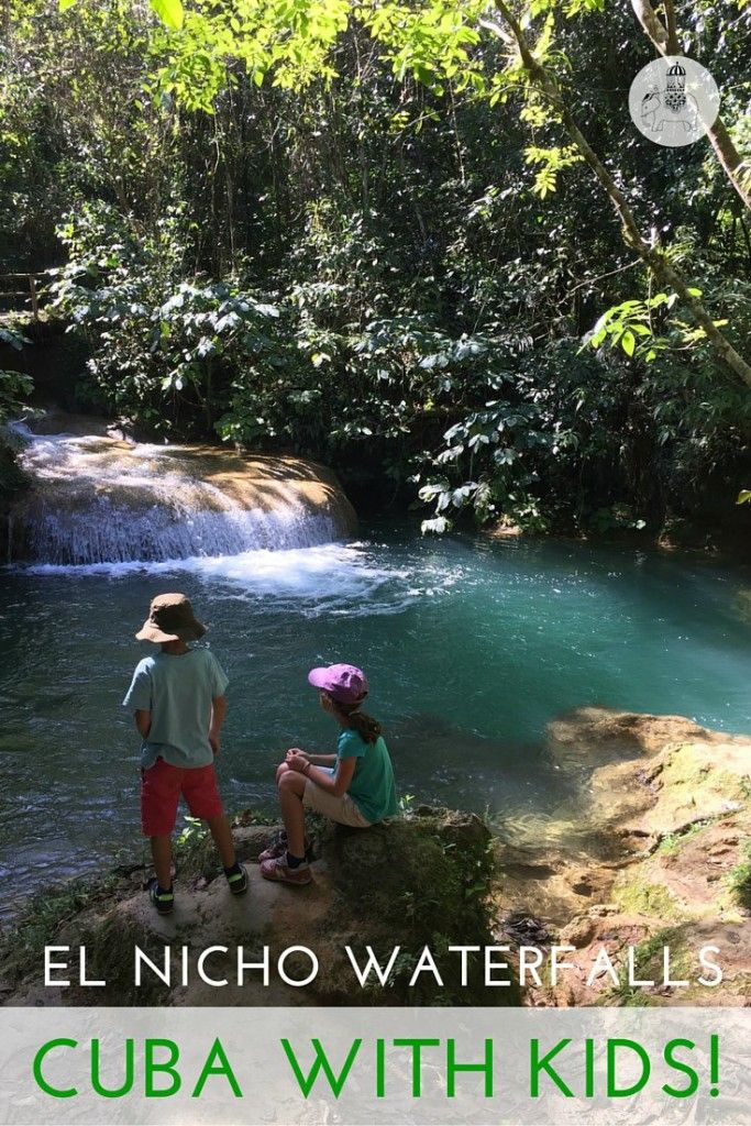 Cuba With Kids: The Waterfalls of El Nicho. Swimming under the waterfalls of El Nicho in Cuba's Sierra del Escambray – a fantastic detour if travelling with kids from Cienfuegos to Trinidad! Post includes a video tour.