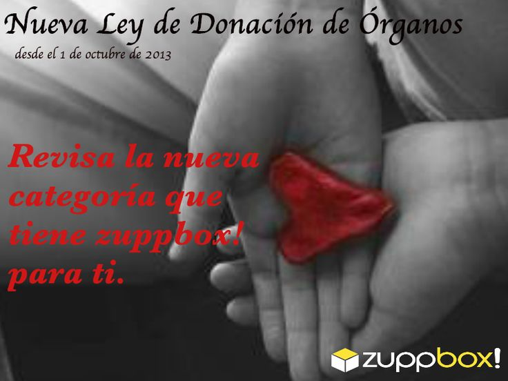 Nueva Ley de Donación de órganos.