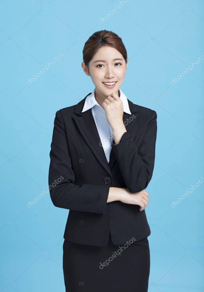Portrait Of Smiling Asian Business Woman Stock Photo Spon