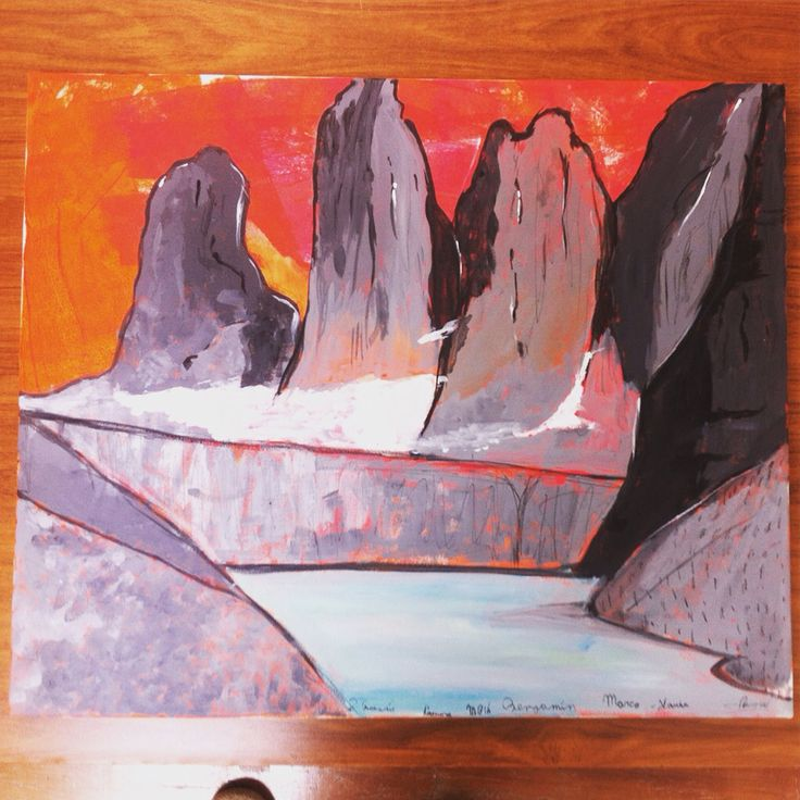 Torres del paine acrílico 50x60 cm