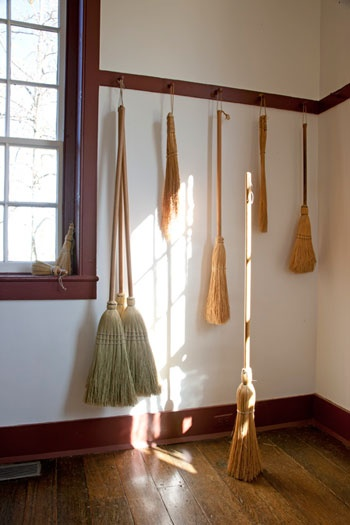 My wall of brooms.
