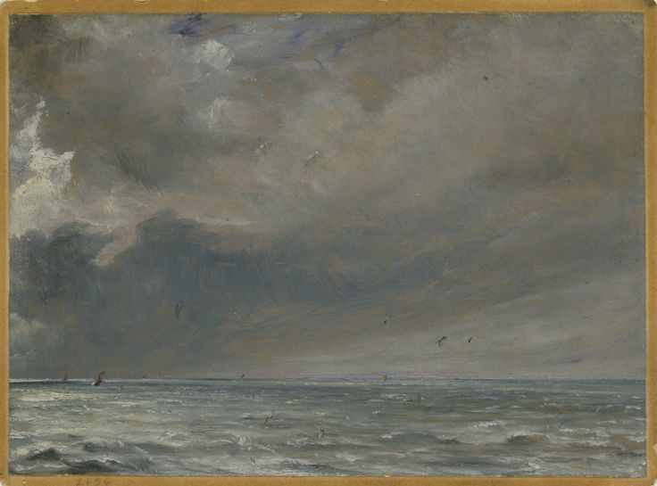 The Sea near Brighton, 1826, John Constable, (1776‑1837), Oil paint on paper on card - www.Tate.org.uk #sea