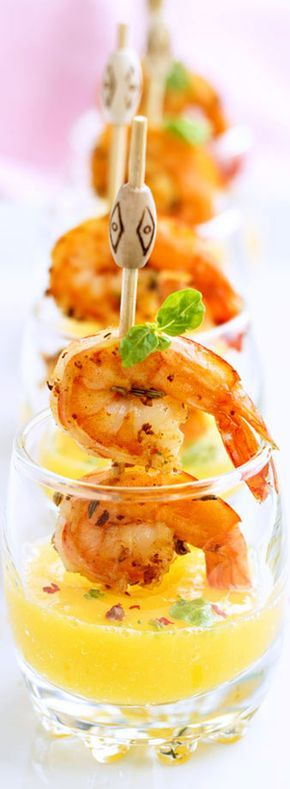 Shrimp Tapas Mango Shooters Recipe | Appetizers