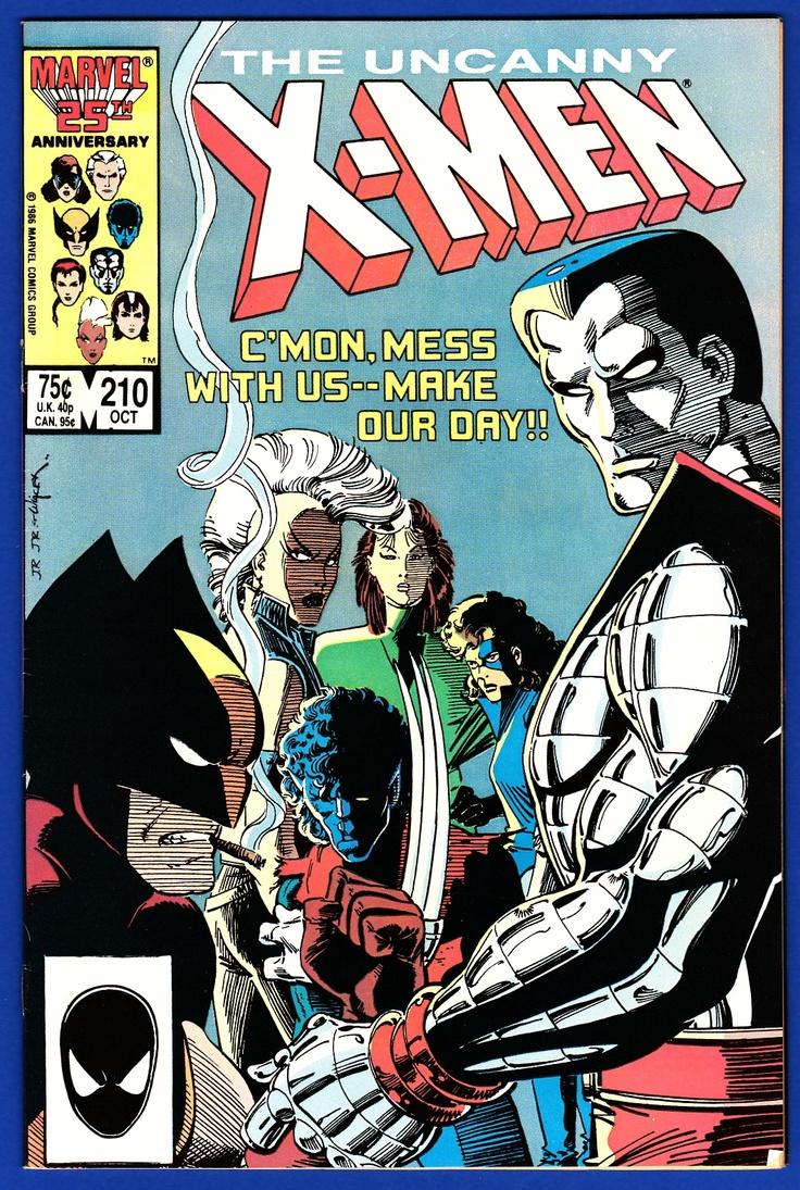 X Men 210 A Favorite Cover Of The 80 S Mutantmassacre Marvel Comics Covers Marvel Comic Books Marvel Comics