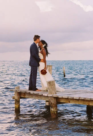 Wedding By The Sea #bwwm #wmbw #interracialmarriage @WithLoveReesie