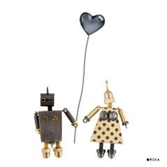 Show your lady, how much you love her :) Heart shaped necklace from LOVE collection, robots from MACHINY collection by Anna Orska.