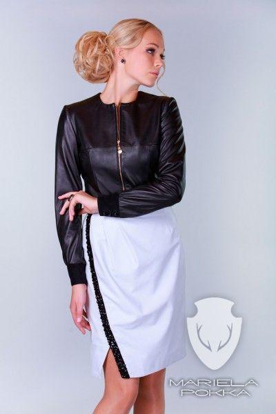 Rhinestone White Skirt - Party Collection of Mariela Pokka