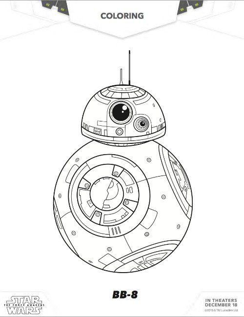 Bb8 Coloring Pages | Star wars bb8, Desenho do star wars ...