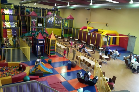 When the weather is raining and the children need to run around indoor playcentres are in most major cities and towns.