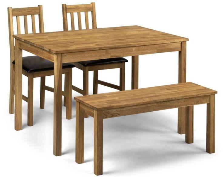 Julian Bowen Coxmoor Oak Rectangular Dining Table With 2 Chair Bench