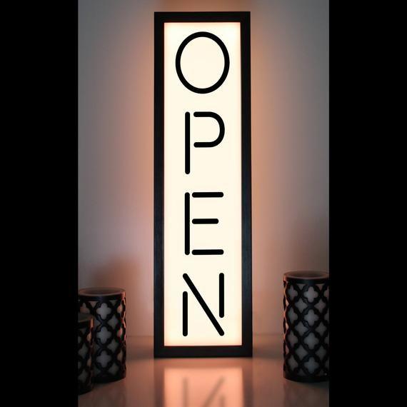 Open Sign Open Light Open Closed Sign Light Up Business Etsy Open Closed Signs Open Signs Sign Lighting