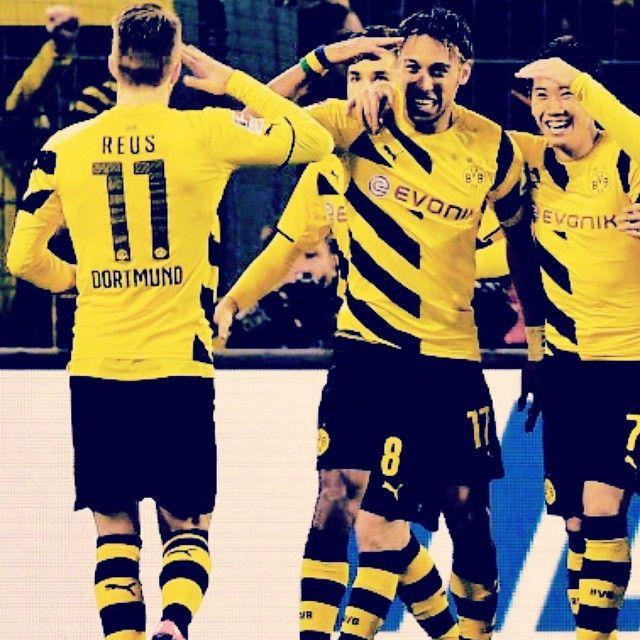Los comandantes del Borussia Dortmund: Marco Reus y Pierre-Emerick Aubameyang! Echte Liebe!