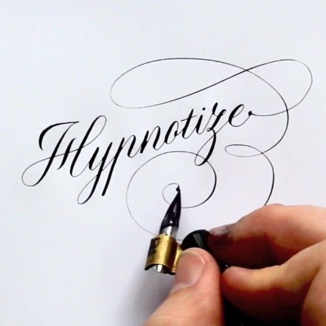 """""""Hypnotize"""" hand-lettering by Seb Lester"""