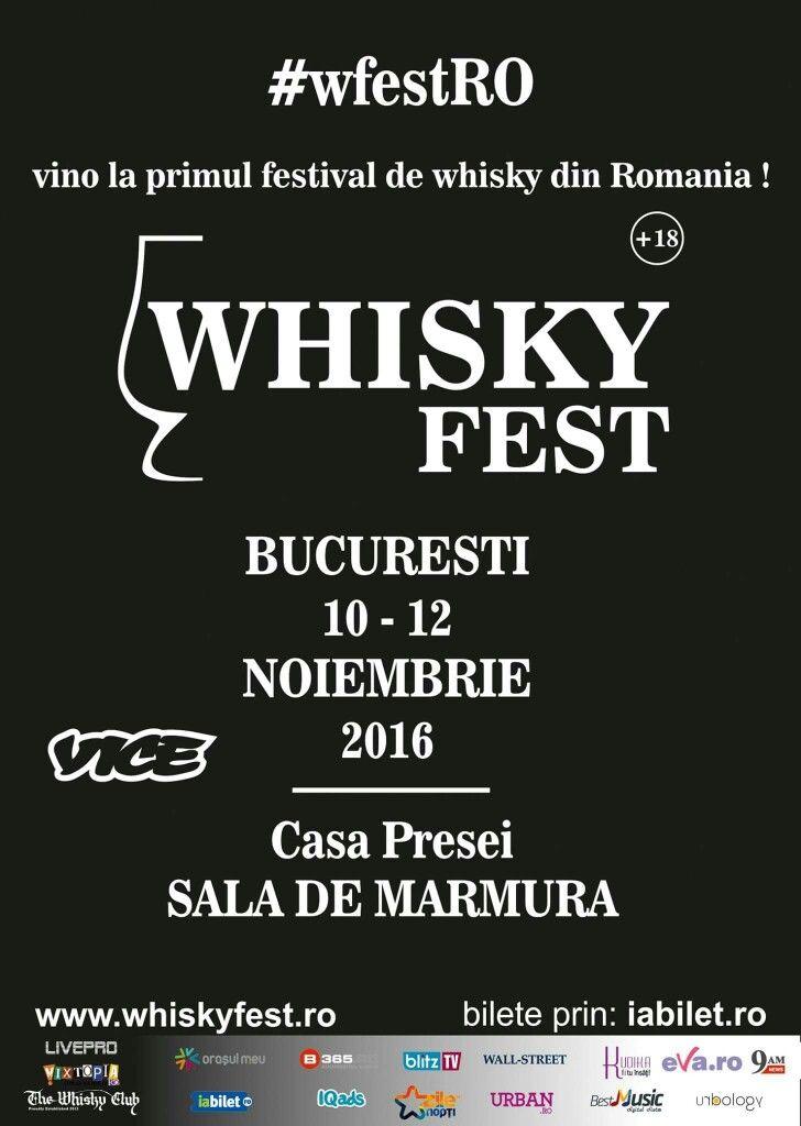 Prima editie a Whisky Fest va avea loc la Casa Presei, Sala de Marmura, in perioada 10 - 12 noimebrie 2016, fiind primul eveniment dedicat in intregime uneia dintre cele mai apreciate bauturi ale tuturor timpurilor - whisky-ul. Detalii Eveniment & Bilete: http://www.vipstyle.ro/Eveniment_Whisky_Fest_2016 #wfestRO #WhiskyFest2016 #CasaPresei #VIPstyle