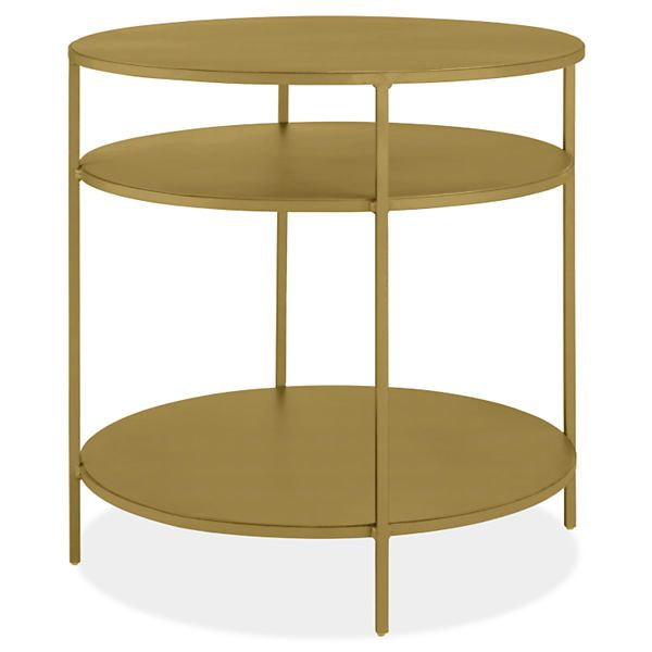 Room Board Slim 25 Diam 24h Round End Table With Shelves Modern Furniture Living Room Round End Tables Modern End Tables