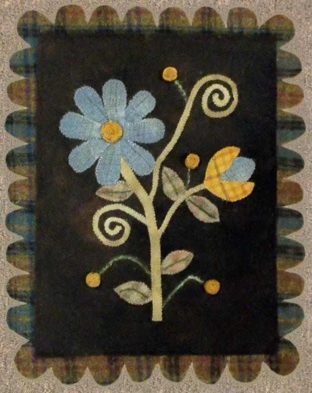 Folksy flower by Woolen Willows