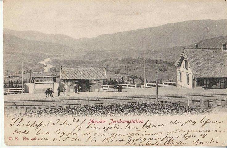 MERÅKER Jernbanestation. 1905. Utg Narvesen