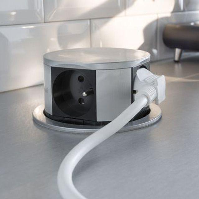 Bloc escamotable 4 prises compact otio deco cuisine plan de travail cuisine prise - Bloc cuisine compact ...