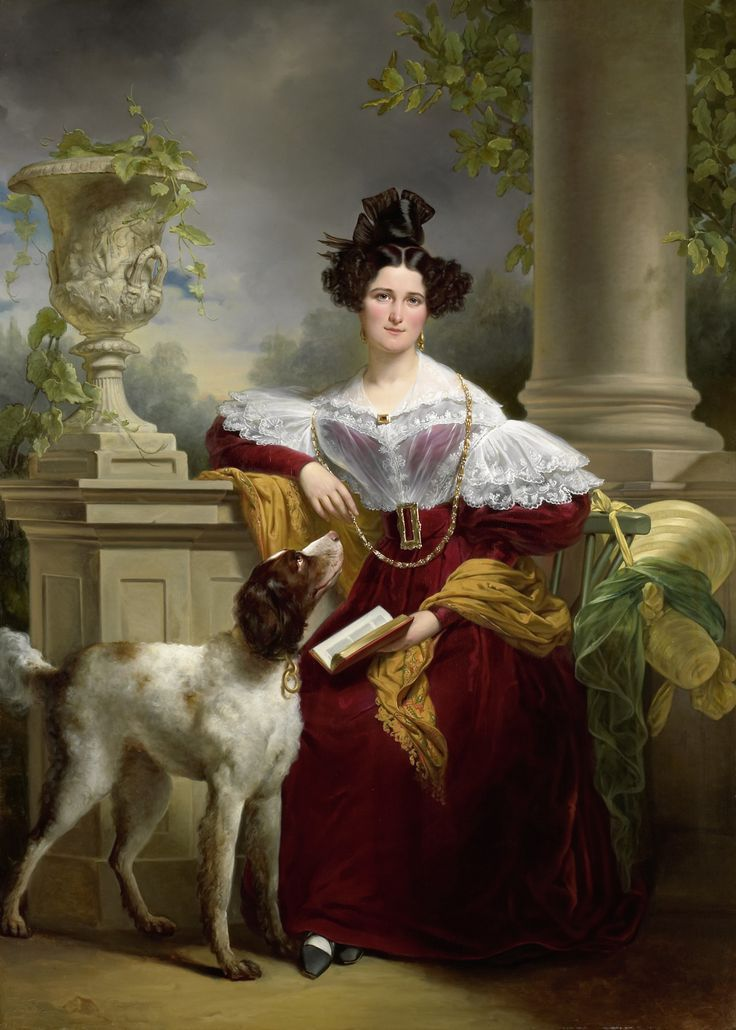 Портрет Кристины ван Алида Assink 1833 года Яна Адама Kruseman.  # # Классического искусства картин # 1800 # # моды