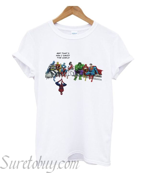 5344bfb9e Jesus and heroes and that's how I saved the world T-shirtFrom in 2018 |  BEST BUY T-SHIRTS | Pinterest