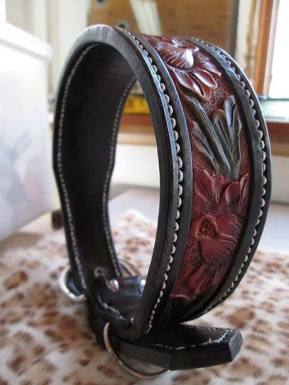 X-Large dog collar leather dog collars custom by AcrossLeather