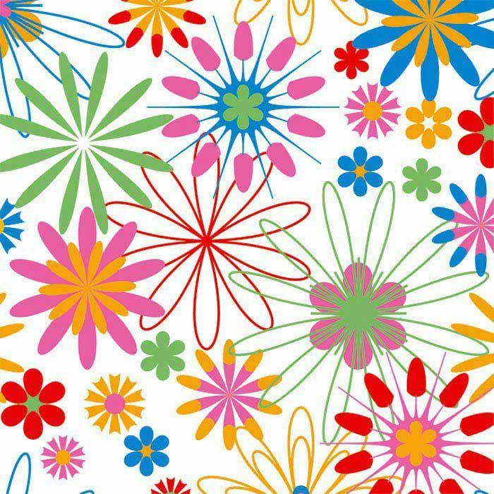 Fototapeta Colourful flowers L Dimex, rozměry 220 x 220 cm - Fototapety vliesové