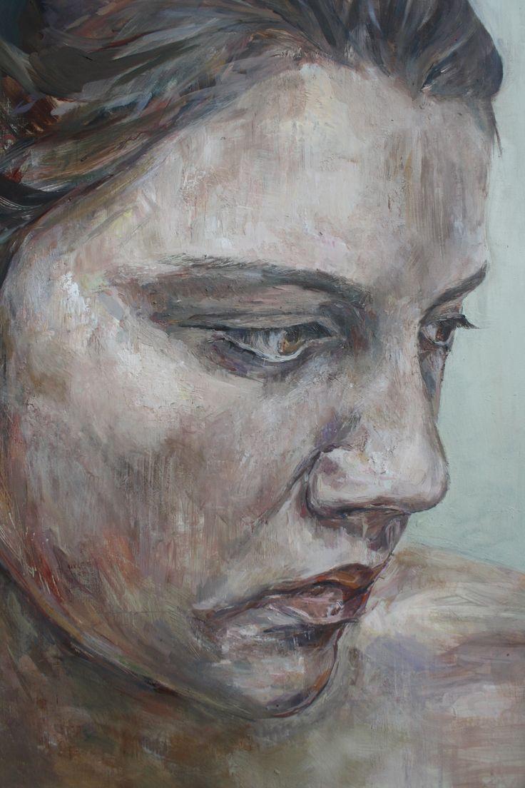 Self portrait Detail (oil on board)