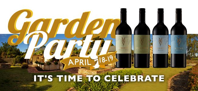 It's time to Celebrate!  Family friendly and set in our Greenock Tasting Rooms, the MSV Garden Party gives you the opportunity to be one of the first to sample and buy from our award winning portfolio.  The 2012 vintage release of Gomersal, Greenock, Sophia & Benno.  A time to share, enjoy and celebrate!  Saturday 18th and Sunday 19th April 12 noon – 6pm