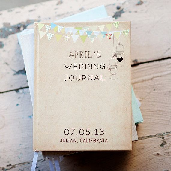 Adorable wedding Journal Notebook Wedding Planner  by inoroutmedia on Etsy, $35.00....a must have!