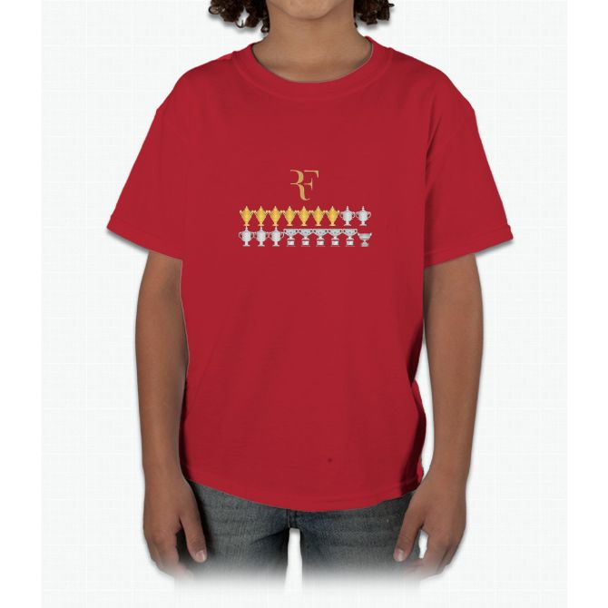 Roger Federer - 18 Grand Slams Young T-Shirt