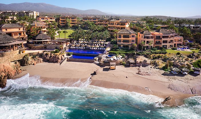 Aerial Shot Facing Resort