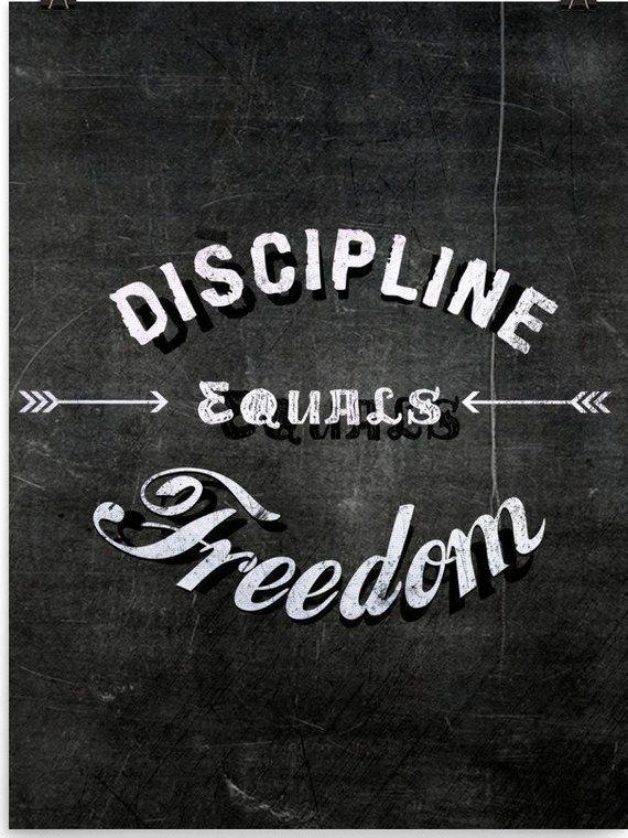 Discipline Equals Freedom Wall Print Inspirational Motivation Etsy Freedom Wall Freedom Tattoos Freedom Artwork