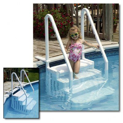 Easy Pool Step for Above Ground Pools for $219.95 #CozyDays #PoolStepsLadders #PoolBeach