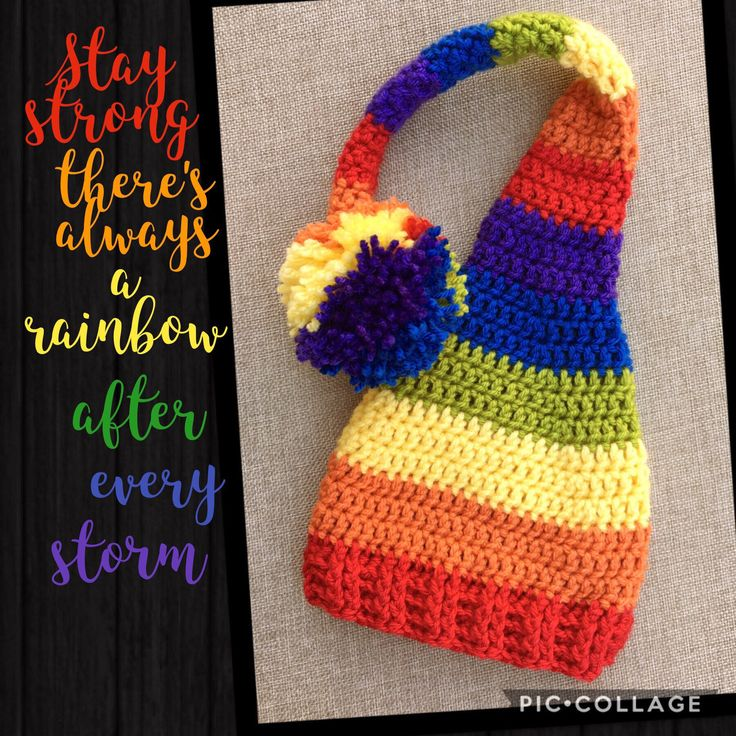 Long Tail Hat, Rainbow Hat, Newborn Photo Prop, Elf Hat, Newborn Hat, Rainbow Baby by BaddGirlCrochet on Etsy https://www.etsy.com/listing/525236952/long-tail-hat-rainbow-hat-newborn-photo