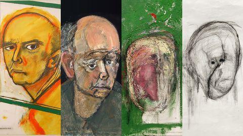 evolutie in de zelfportretten van William Utermohlen