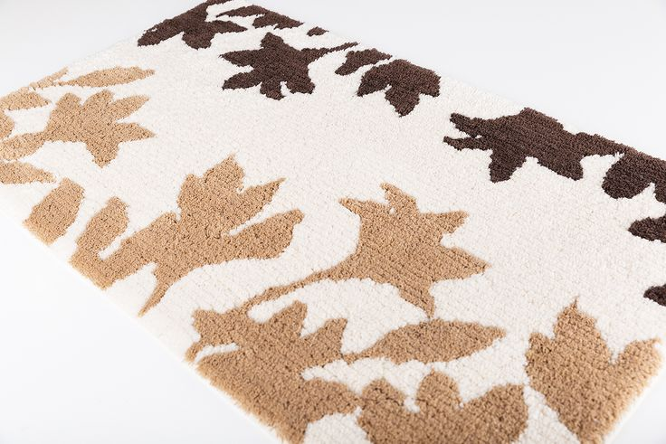 Garden bath rug. 100% cotton.