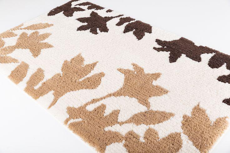 Garden bath rug. 100% cotton.