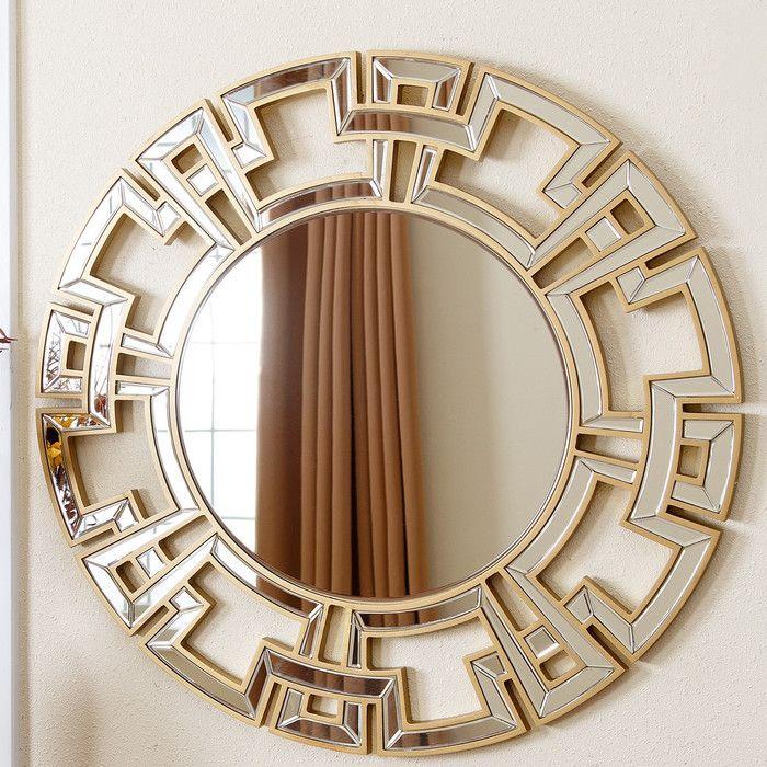 Louise Round Oversized Wall Mirror & Reviews | Joss & Main