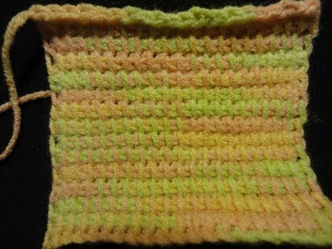 Тунисское (афганское) вязание крючком Tunisian (Afghan) crochet - YouTube