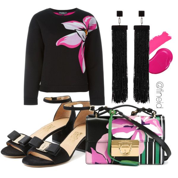 Pjnk aggressive by fineid on Polyvore featuring moda, Salvatore Ferragamo, Tom Ford, Chanel, Topshop and fineid