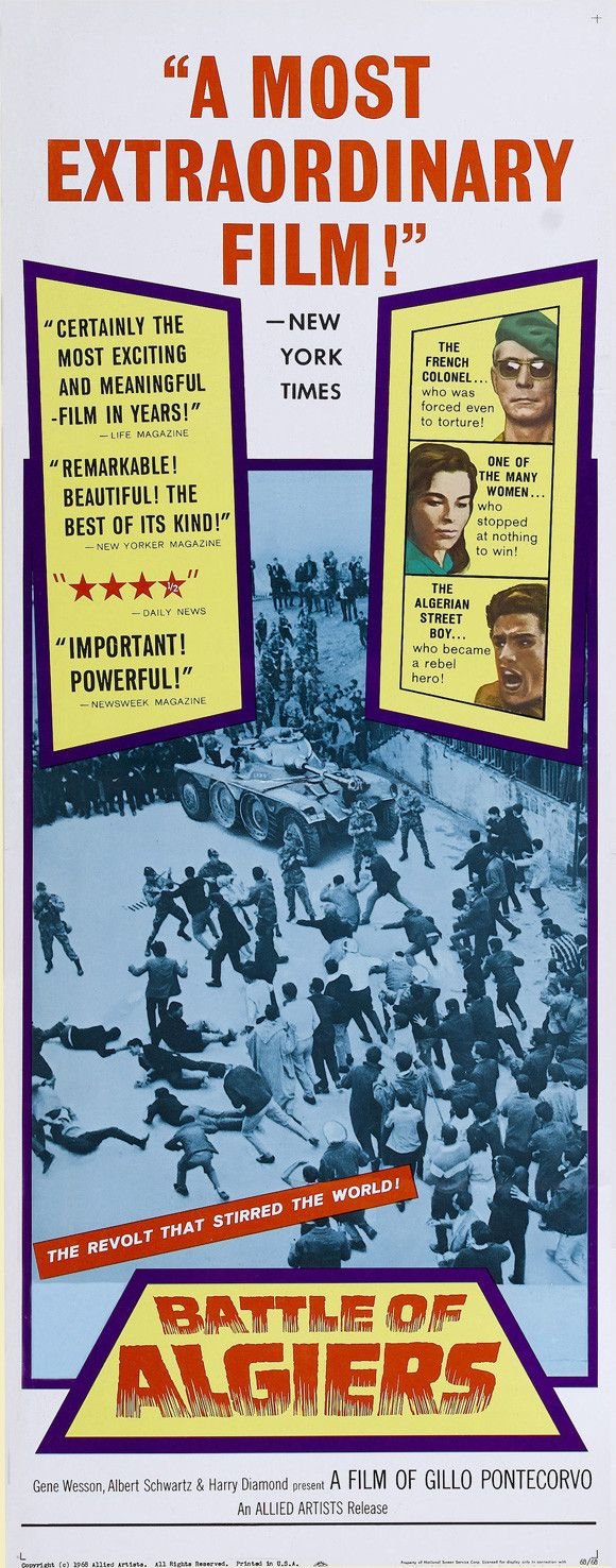 Battle of Algiers (Spanish) 14x36 Movie Poster (1968)