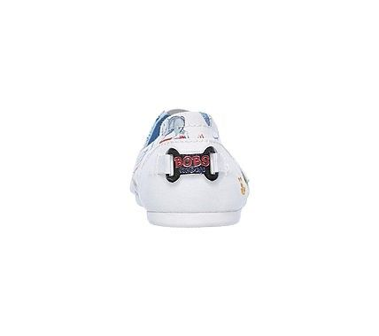 Skechers Women's Bobs Plush Wag Town Memory Foam Slip On Shoes (White)