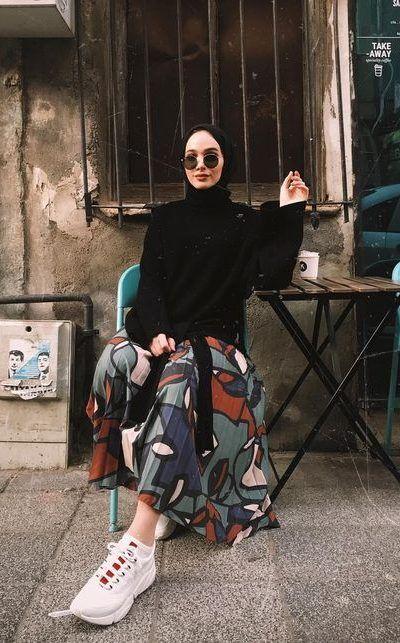 Hijab outfit pattern skirt