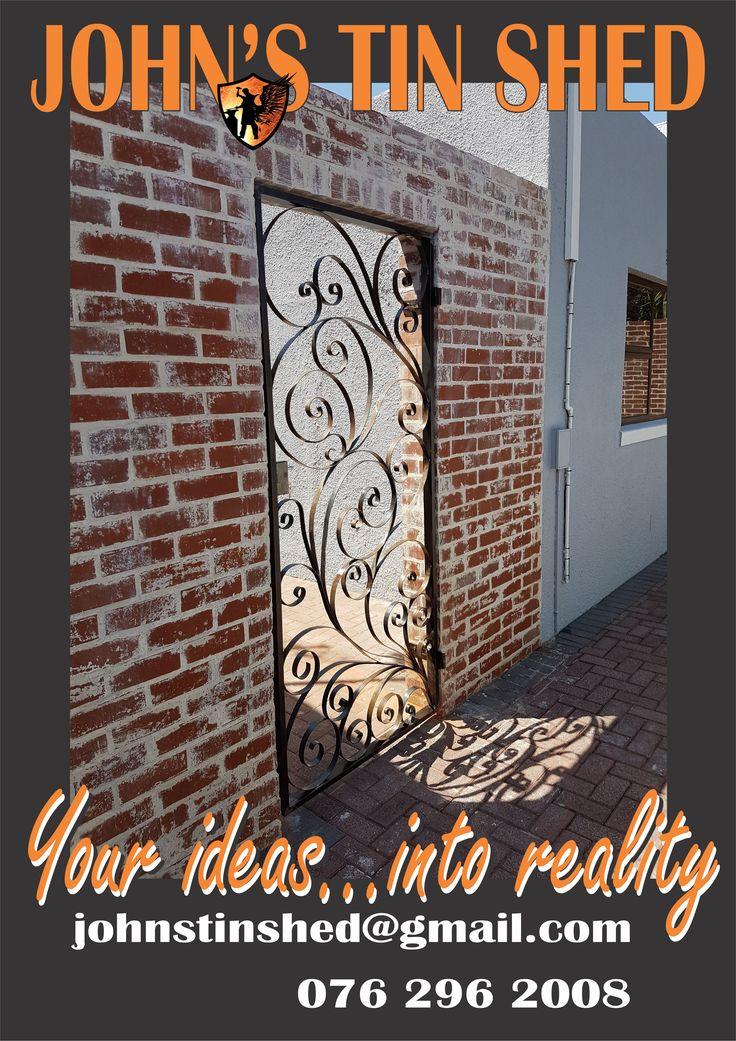 Decorative curly twirly gate