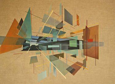 """Saatchi Art Artist Daniel Mullen; Painting, """"Rendering the Fundamentals (sold)"""" #art"""